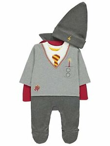 Baby-Boys-Harry-Potter-Grey-All-in-One-with-Hat-and-Cape