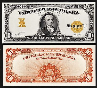 Proof//Specimen Print by the BEP Back of 1882 $10.00 National Currency