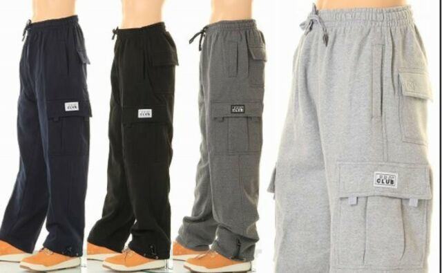 check out bright in luster hot-selling genuine PROCLUB PRO CLUB MENS CASUAL CARGO SWEATPANTS FLEECE PANTS HEAVYWEIGHT BIG  TALL