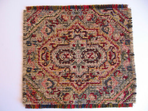 dollhouse doll house miniature FANCY WOVEN RUG CARPET RUG OF MANY COLORS #2