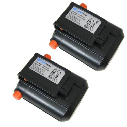 2x AKKU 2500mAh 18V Li-Ion ersetzt Gardena 09840-20 BLi18 für 8877 9335 8881