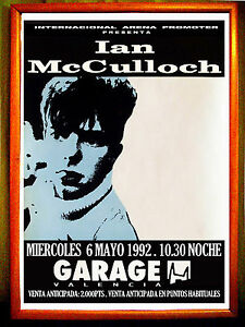 POSTER-CARTEL-CONCIERTO-DE-IAN-McCULLOCH-ECHO-AND-THE-BUNNYMEN-GARAGE-ARENA