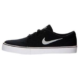 Felicidades asiático regional  NIKE SATIRE CANVAS Black/Metallic Silver-Black 555380 001 Mens Size 9 Shoes    eBay