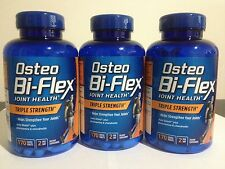 3x Osteo Bi-Flex Triple Strength 170 Caplet 5-Loxin Glucosamine MSM 510 Total