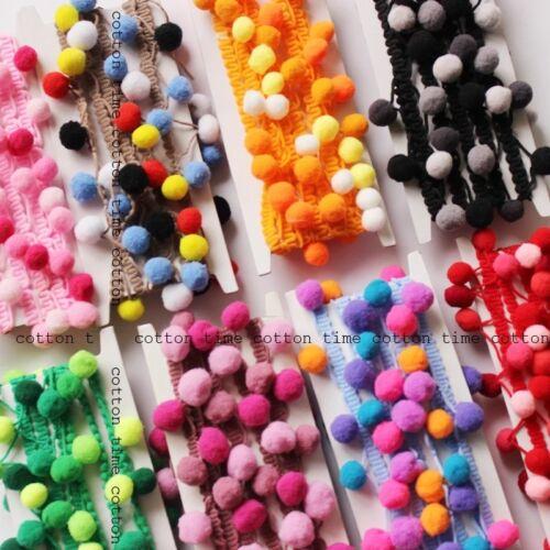 Pom Pom Bobble Balls Trim Ribbon Craft Upholstery Boho Ethnic Sewing