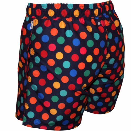 Happy Socks Big Dot Homme Shorts De Bain Bleu Marine//Multi