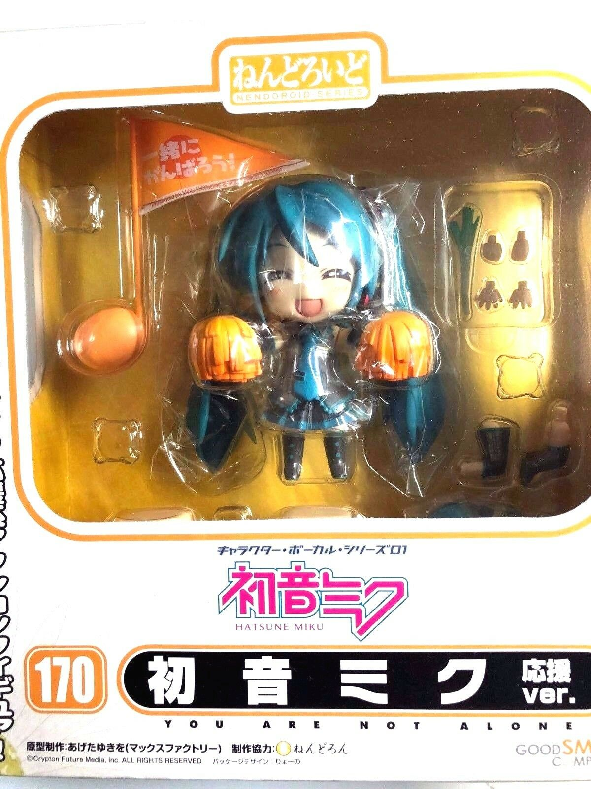 Free Shipping Japan Authentic NendGoldid Hatsune Miku Cheerful Ver.Japan limited