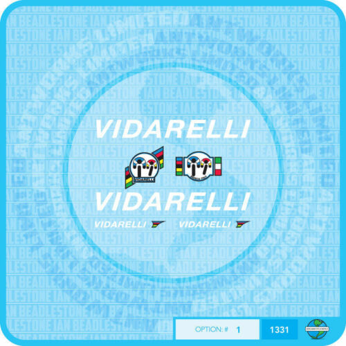 Stickers Set 1 Vidarelli Bicycle Decals Transfers