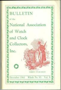 Bulletin National Association Watch and Clock Collectors 1961, 62, 63 Lot Four