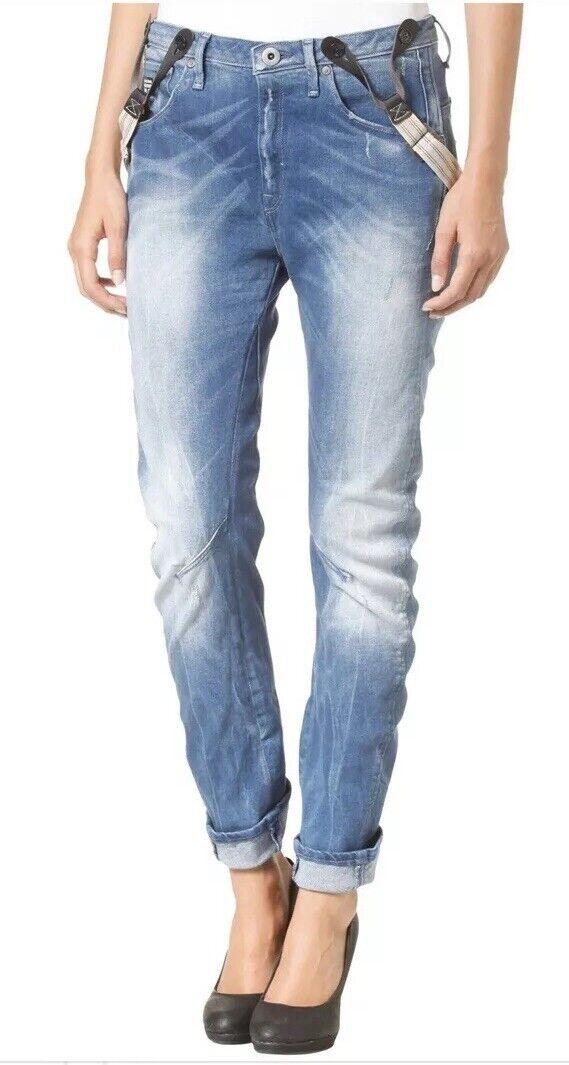 G Star Raw Jeans 26 Arc 3d Tapered Braces bluee Denim
