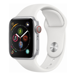 Apple-Watch-Series-4-GPS-Cellular-40mm-Silver-Case-and-White-Band-MTUD2LL-A