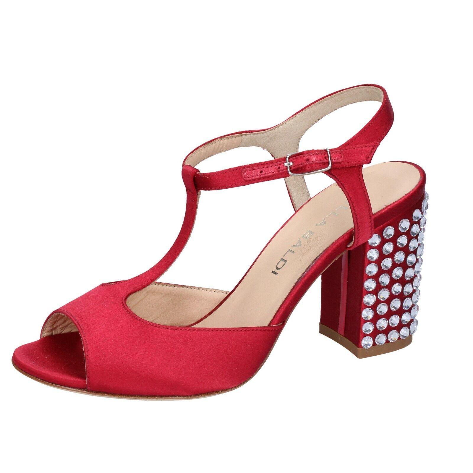 kvinnor kvinnor kvinnor skor LELLA BALDI 36 EU Sandaler röd Satin AH826 -36  stora rabattpriser