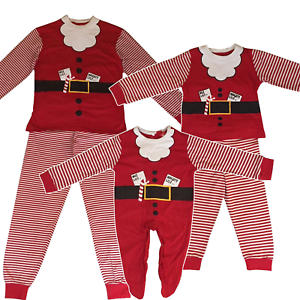 eefba28200 Family Mum Dad Kids Children Baby Christmas Santa Claus Festive Xmas ...