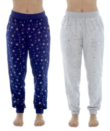 Foxbury Ladies Foil Print Fleece Cuff Lounge Pants