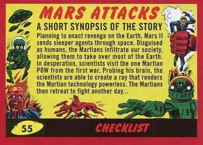99 Base Card #1 Mars Destroyed Mars Attacks The Revenge Red