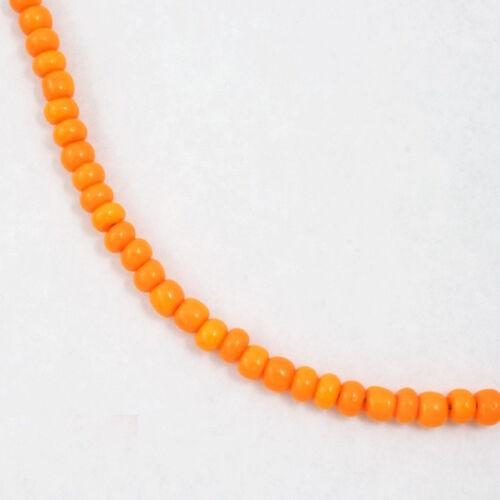 40 gram #CSU025 4//0 Opaque Tangerine Czech Seed Bead