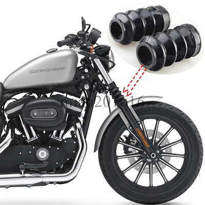 Newsmarts Motorcycle 39mm Fork Covers Front Rubber Gaiters Gators Shock Boots Compatible with Harley Sportster XL883 1200