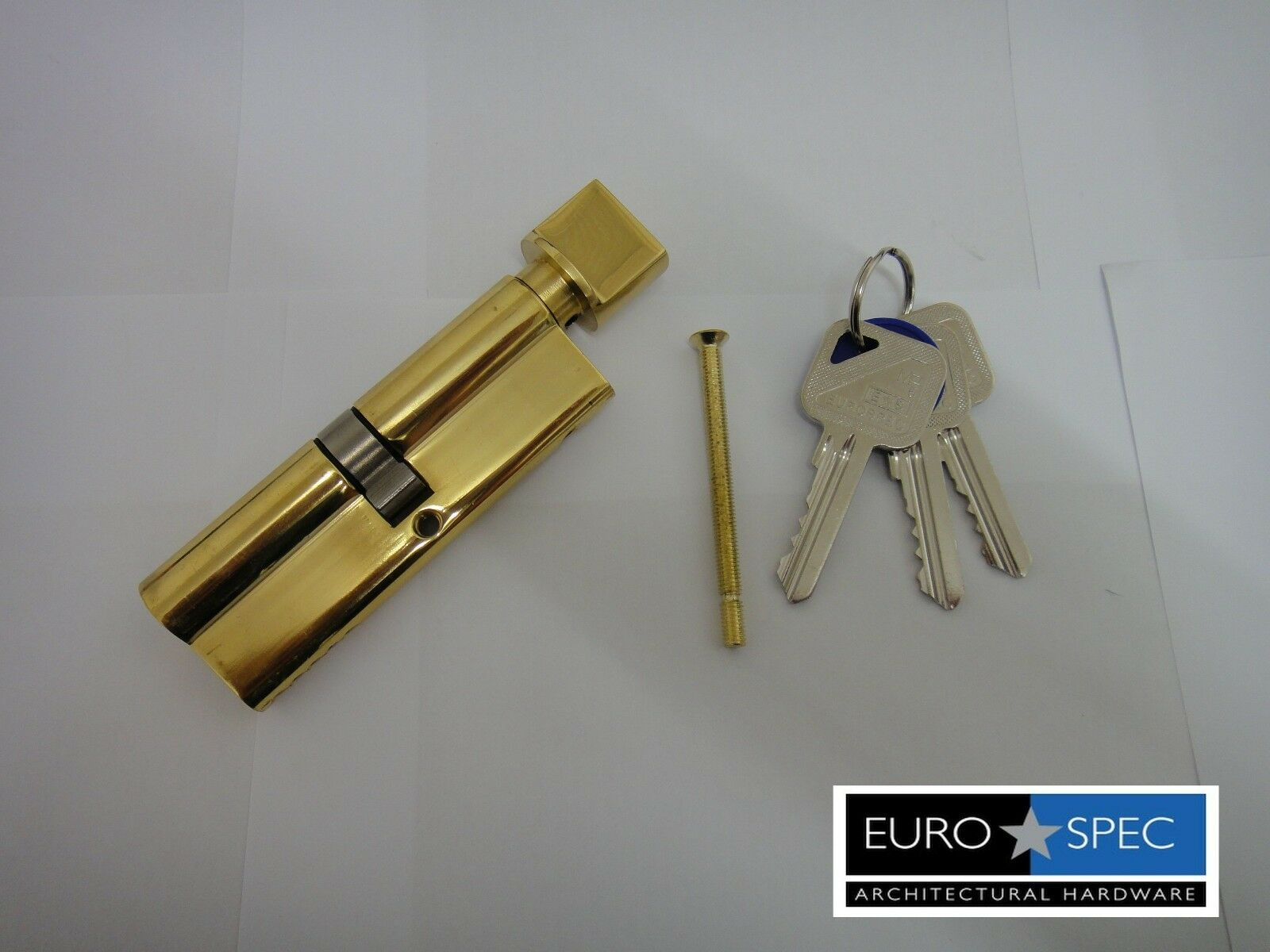 EuroSpec MP5 Euro Thumbturn Cylinder 45/45mm (90 mm) 5PIN laiton poli-Neuf poli-Neuf laiton d9abb3