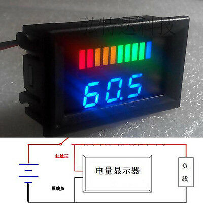 DC 12v Acid lead batteries indicator CAR Battery capacity LED Tester+  voltmeter