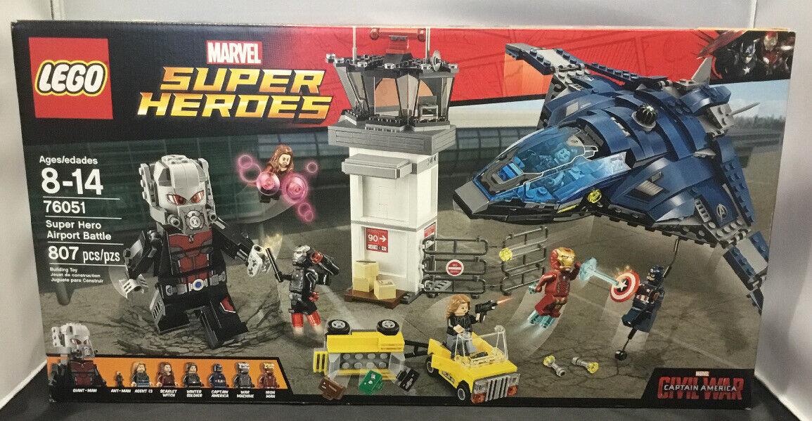 LEGO MARVEL SUPERHEROES SUPER HERO AIRPORT battle SET  76051 NEW AND SEALED