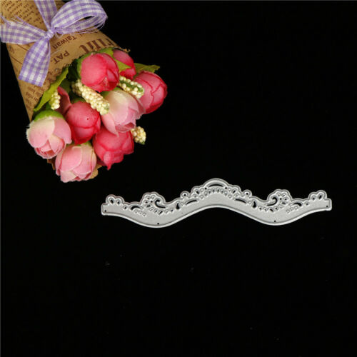 Wavy lace framed  Metal Cutting Dies DIY Scrapbooking Photo Album CraftsBL