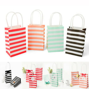 20pcs Mini Gift Bags Striped Paper Wedding Party Candy