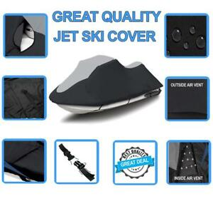 600 DENIER Sea-Doo SeaDoo GTR 215 2012-2016 Jet Ski Watercraft Cover Black//Grey