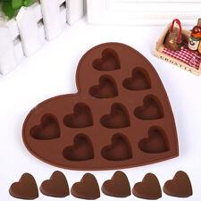 Heart Shape Silicone Cake Mold DIY Chocolate Soap Molds Sugar Decorating Tools