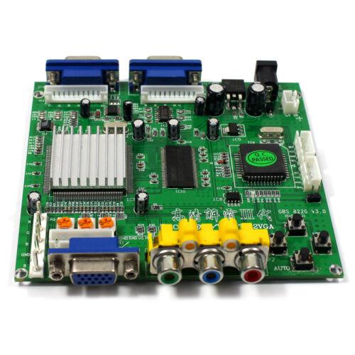 CGA EGA YUV  to VGA GAME Video Converter Board 2VGA Output GBS8220 Video Game