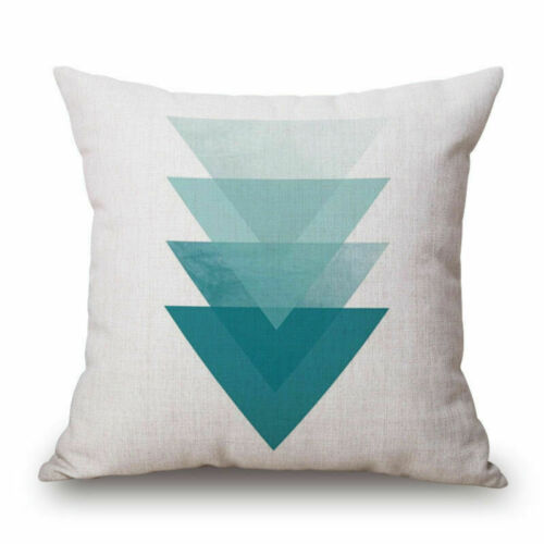 """18/"""" Home Cotton Linen Car Bed Waist Cushion Throw Pillow Case Square Cover Gift"""