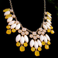 Kate Spade Marquee Bib Statement Necklace Yellow White Gold Set Bridal Earrings