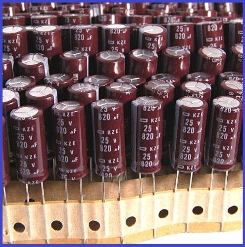 10PCS 820UF 25V NCC RADIAL ELECTROLYTIC CAPACITOR 10X24MM KZE 25v820uf LOW ESR