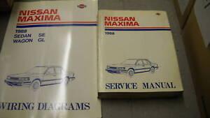 1988 Nissan Maxima Service Shop Repair Manual Set OEM W ... on 4th gen maxima, crimson black maxima, 1996 nissan maxima, 2 door maxima, vip maxima, 2015nissan maxima,