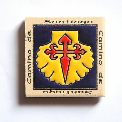 Camino de Santiago Pilgrim Tile Way Of St. James Fridge magnet (5 of 5)