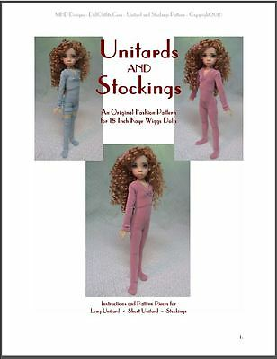 "/""Unitards /& Stockings/"" 18 inch Ball Jointed Doll Kaye Wiggs BJD Clothing Pattern"