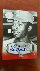 2004 LOU BROCK Auto SP #36 UD Timeless Teams /50 Exchange Short Print Near Mint!