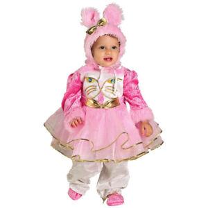 vendita a basso prezzo gamma completa di articoli Super sconto Dettagli su Costume Vestito Carnevale Bambina BABY GATTA GATTINA 12 18 24  Mesi 1 2 Anni