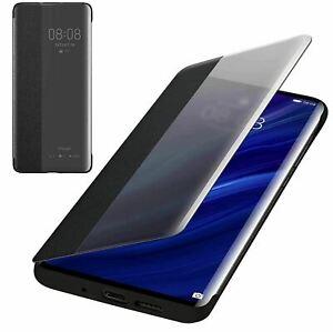 Huawei-Officiel-P30-Smart-Vue-Clapet-Housse-Telephone-Etui-Black