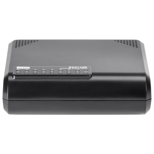 16 Port RJ45 10//100 Mbps Ethernet Network Switch Desktop LAN HUB Power Adapter