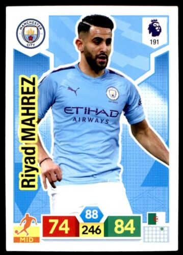 Panini Premier League adrenalyn XL 2019//20 Riyad Mahrez Man City No 191