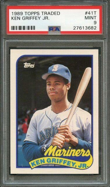 1989 topps traded #41t KEN GRIFFEY JR seattle mariners rookie card PSA 9