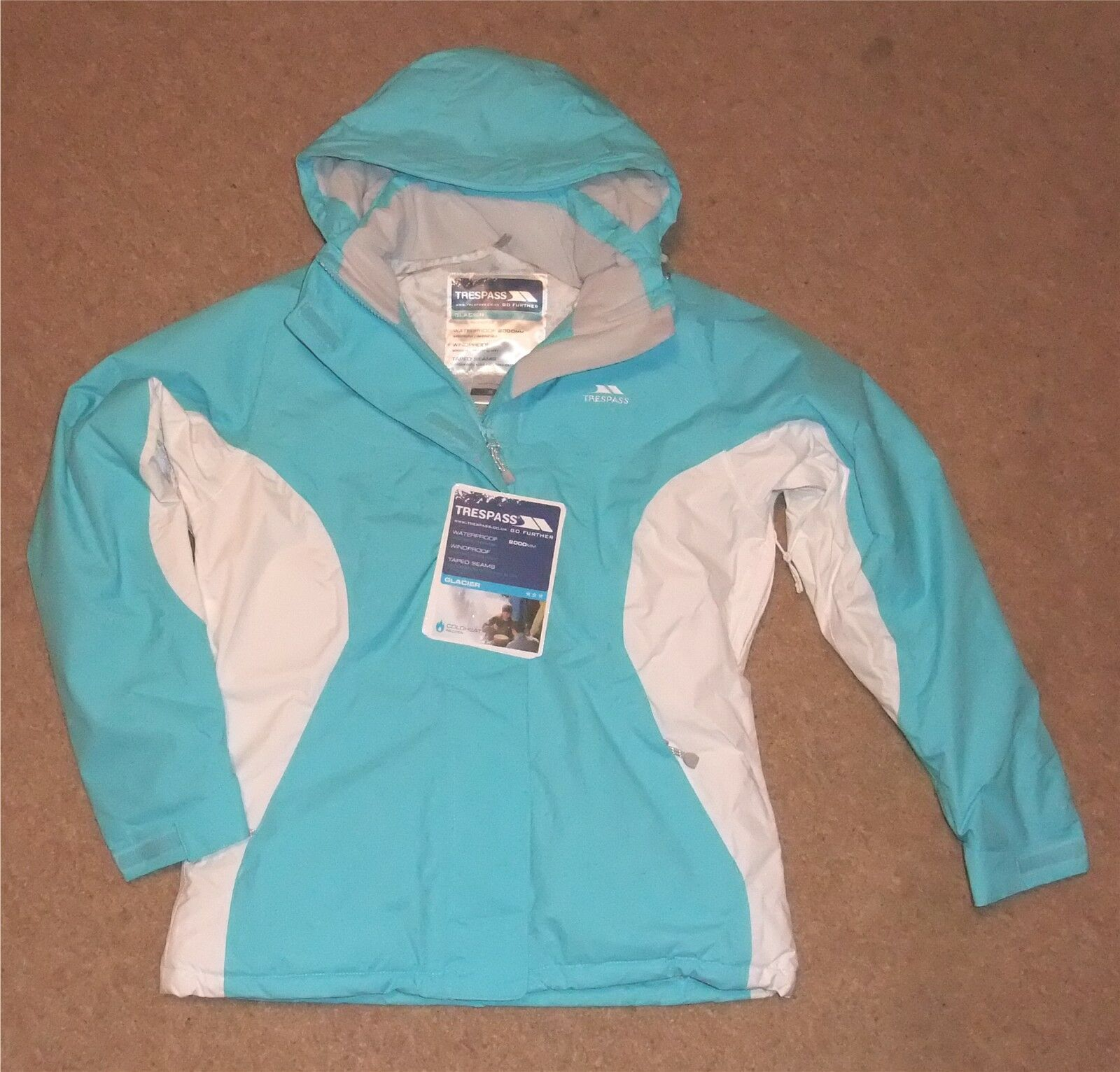 NEW TRESPASS  LOREEN  LADIES SKI  JKT (MEDIUM) LT blueE