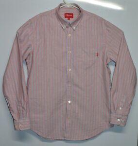 491c820bd9ccb3 Supreme Faded Stripe Button Up Box Logo Oxford Shirt Size Large | eBay