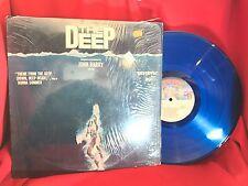"""THE DEEP Motion Picture Soundtrack BLUE VINYL Donna Summer Vintage LP 1970s 12"""""""