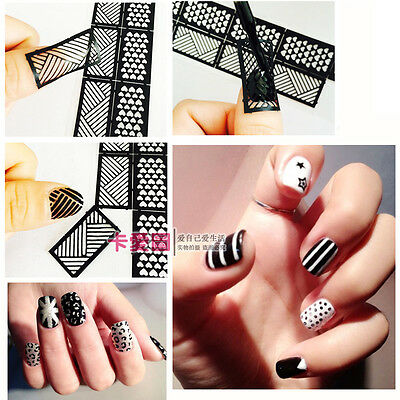 Easy Reusable Stamping Tool DIY Nail Art Template Stickers Stamp Stencil Guide