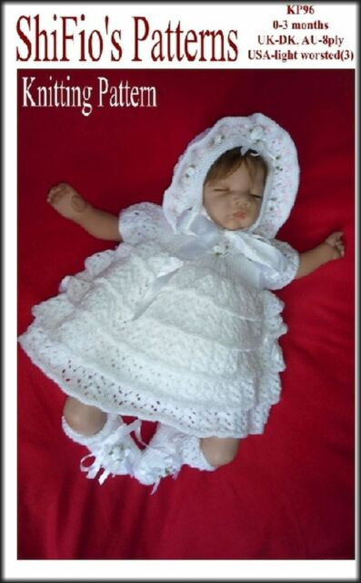 e469c042489eac Knitting Pattern for Baby Layered Dress Hat BOOTIES  96 Not Clothes ...