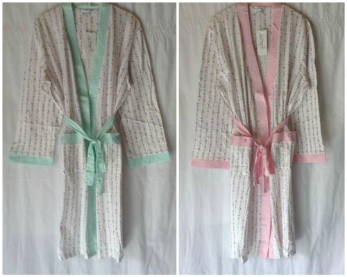 NUOVO Donna TG 10-20 Poli//Cotone Vestaglia In Jersey Con Tasche LA MARQUISE