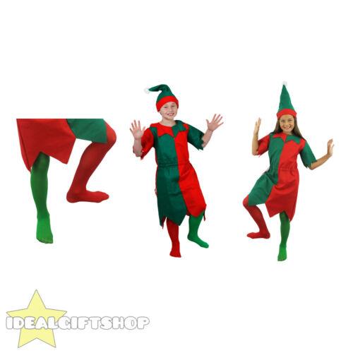 ELF TUNIC FANCY DRESS COSTUME ADULT CHILD XMAS CHRISTMAS SANTAS HELPER FESTIVE