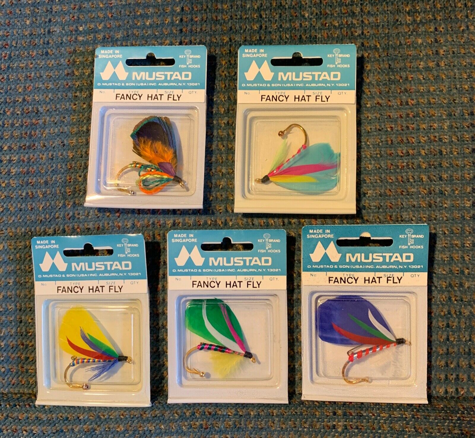 O MUSTAD AND SON FANCY HAT FLIES