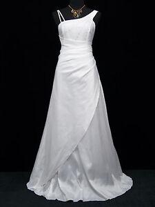 Cherlone White One Shoulder Ballgown Bridesmaid Wedding Formal Evening Dress 12